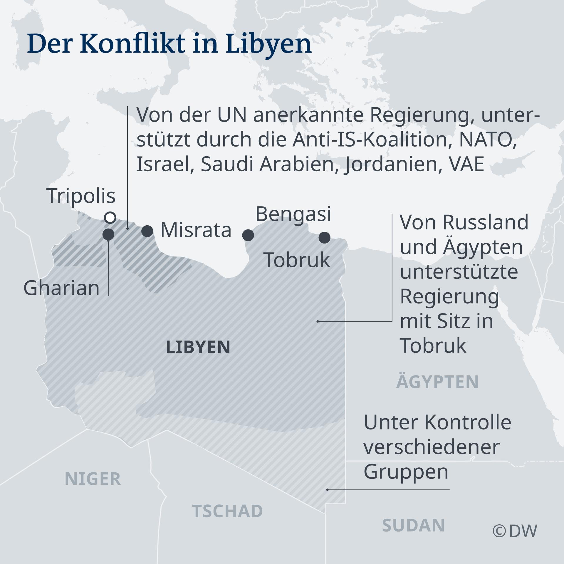 Infografik Der Konflikt in Libyen DE