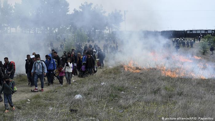 Griechenland gewaltsame Proteste von Migranten