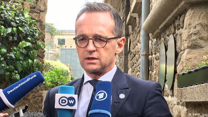 Хайко Мас на встрече глав МИД стран большой семерки во французском Динаре