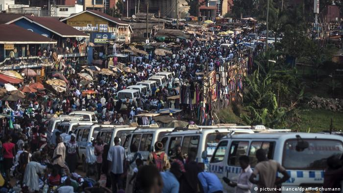 Heavy traffic in Kampala