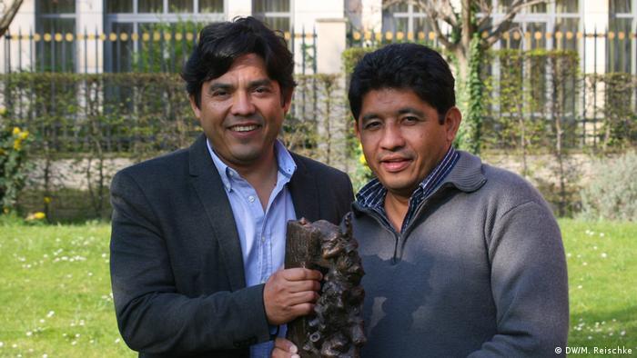 Martin und Victor Fernandez Menschenrechtler aus Honduras (DW/M. Reischke)