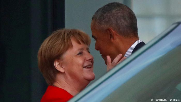 Obama und Merkel in Berlin (Reuters/H. Hanschke)