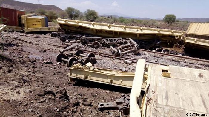 Äthiopischer Güterzug in Ost-Addis Abeba verunglückt