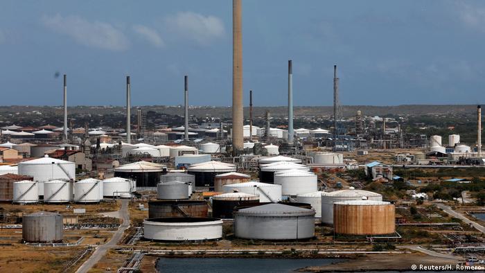 Curacao Ölraffinerie von PDVSA terminal in Willemstad