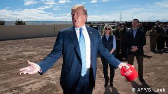 President Trump on the border with Mexico (AFP/S. Loeb)