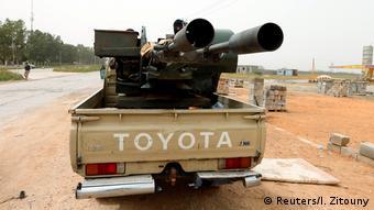 Libyen Bewaffnete Gruppen aus Misrata ziehen um, um Tripoli zu verteidigen (Reuters/I. Zitouny)