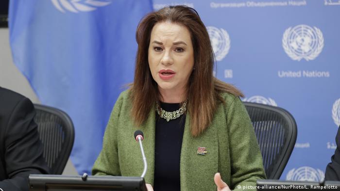 Präsidentin der UN-Generalversammlung Maria Fernanda Espinosa (picture-alliance/NurPhoto/L. Rampelotto)