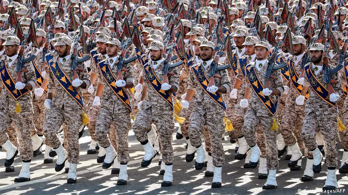 Iran Revolutionsgarden in Teheran