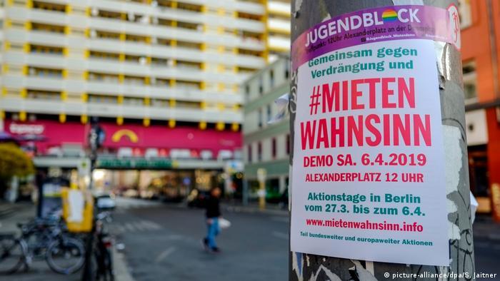 Deutschland Protest gegen steigende Mieten in Berlin (picture-alliance/dpa/S. Jaitner)