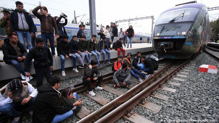 Bahnhofsblockade in Athen (05.04.2019)