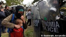 Griechenland Flüchtlinge verlassen Flüchtlingscamp bei Diavata