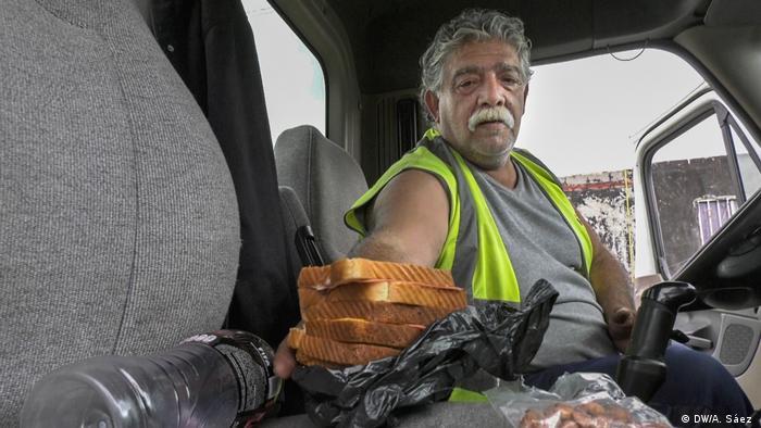 Mexiko LKW-Fahrer an der Grenze zu den USA