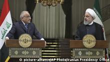 Iran Adel Abdel Mahdi zu Gast bei Hassan Rouhani