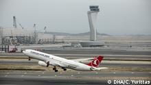 Türkei Der erste Flug am neu eröffneten Flughafen Instanbul