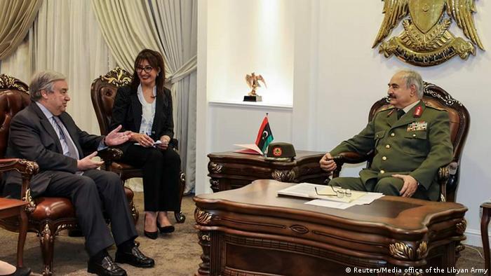 Libyen Antonio Guterres und General Haftar