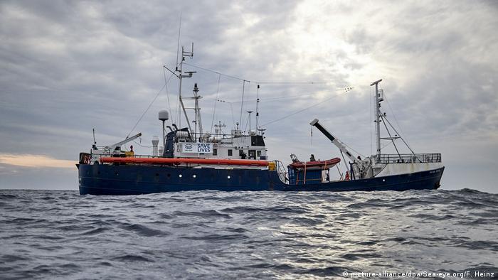 Rettungsschiff Alan Kurdi vor der libyschen Küste (03.04.2019)