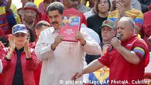 Venezuela Rede von Nicolas Maduro in Caracas