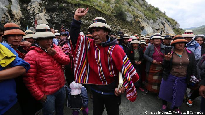 Peru Proteste der Gemeinde Fuerabamba gegen den Bergbau Las Bambas