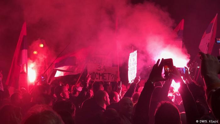 Serbien Protest gegen Präsident Aleksandar Vucic in Belgrad