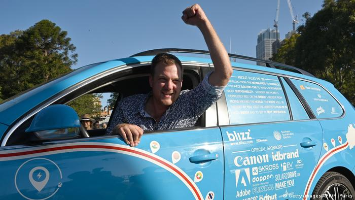 Wiebe Wakker in his Blue Bandit (Getty Images/AFP/P. Parks)