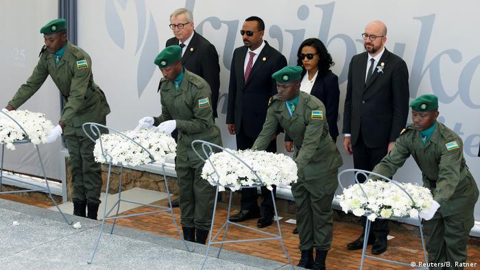 Ruanda 25. Jahrestag Völkermord | Zeremonie in Kigali | Juncker & Ahmed & Michel