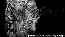 cgi (computer generated image)/ Illustration: Symbolbild: Digitalisierung, Kuenstliche Intelligenz (KI, AI), Cyberspace, Roboter, Bionik. | Verwendung weltweit