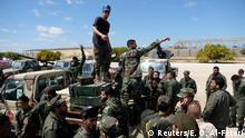 Libyen Mitglieder der National Army LNA in Bengasi