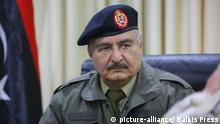 LNA Chef Khalifa Haftar (picture-alliance/ Balkis Press)