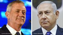 Kombibild: Benny Gantz und Benjamin Netanjahu
