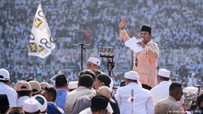 Prabowo Subianto Campaigns Ahead Of Indonesia's Presidential Election (Getty Images/E. Wray)