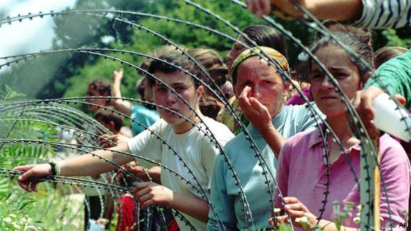 13. srpnja 1995.: izbjeglice u zaštićenoj zoni