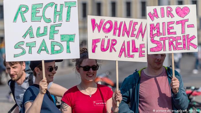 Protesta contra el incremento de los alquileres en Dresde. (6.04.2019).
