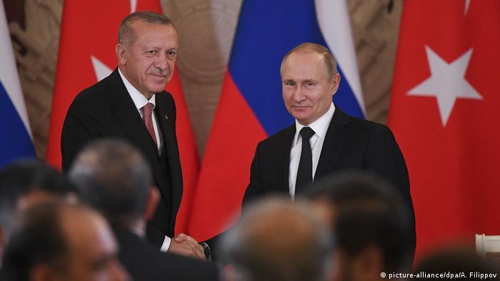 Russland Moskau Treffen Wladimir Putin und Tayyip Erdogan