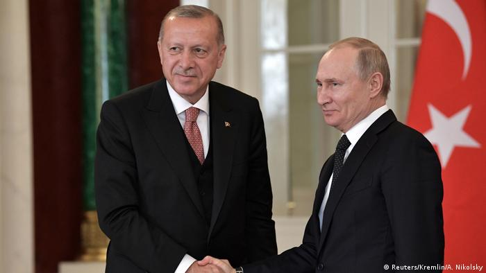 Turkish President Erdogan with his Russian counterpart, Putin