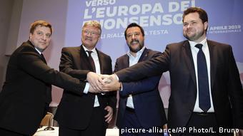 Представители правопопулистских партий из Финляндии, ФРГ, Италии и Дании