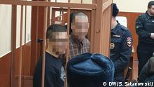 Wiktor Filinkow und Julij Bojarschinow im Gericht in Petersburg, Russland. Autor: Sergej Satanowskij, DW, 8.4.2019