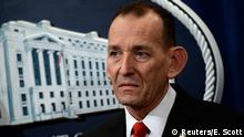 FILE PHOTO: U.S. Secret Service Director Randolph Alles participates in a news conference about significant law enforcement actions related to elder fraud in Washington, U.S. March 7, 2019. REUTERS/Erin Scott/File Photo