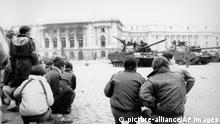 Rumänien Kämpfe vor dem Palast in Bukarest 1989