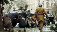 Rumänien Kämpfe auf den Straßen von Bukarest 1989