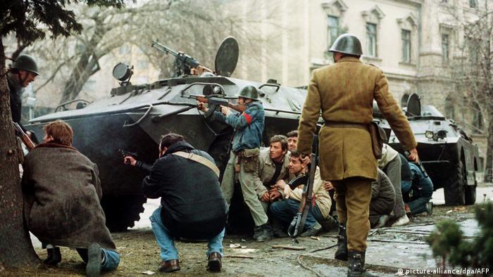 Români în luptă cu teroriştii în decembrie 89