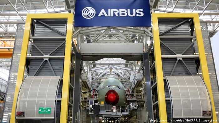 Frankreich Airbus-Werk in Toulouse (picture-alliance/dpa/MAXPPP/S. Lapeyrere)