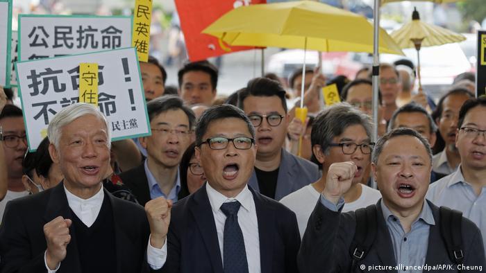 China Anführer der Demokratiebewegung in Hongkong schuldig gesprochen (picture-alliance/dpa/AP/K. Cheung)