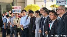The 9 protestors thanked to the supports of the citizen and ecnourged them to continue to strive for democracy . Author : Vivien Wong Date : 9th April , 2019 Place : West Kowloon Magistates' Courts , Hong Kong