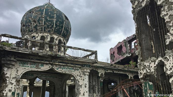 Philippinen Zerstörte Bato Ali Moschee in der Stadt Marawi (DW/S. Petersmann)