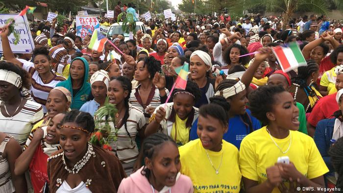 Hawassa Äthiopien Frauen-Marsch