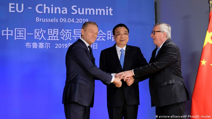 Belgien EU-China Gipfel in Brüssel (picture-alliance/AP Photo/O. Hoslet)