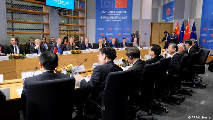 Belgien EU-China Gipfel in Brüssel (AFP/O. Hoslet)