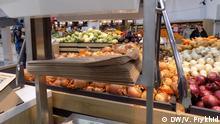 Ukraine Lwiw | Supermarkt-Aktion Kauf ohne Plastikverpackung