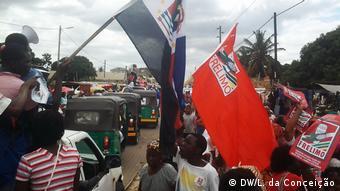 Mosambik Vorwahlkampf für die Parlamentswahlen (DW/L. da Conceição)