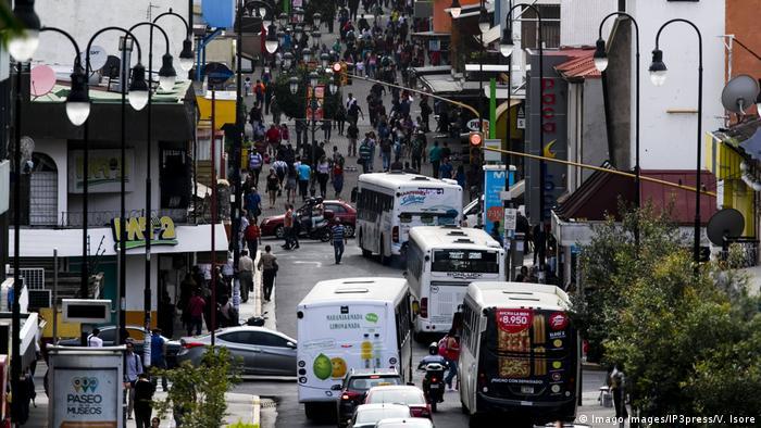 Verkehrsstau in San Jose, Costa Rica